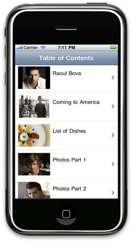 eBook App on iPhone