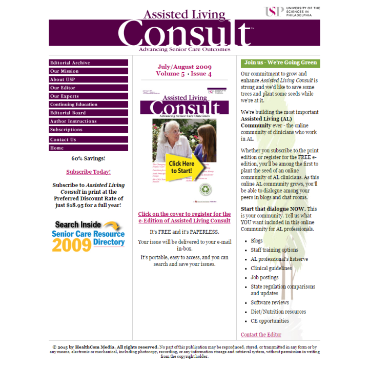 Assisted Living Consult